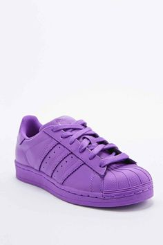Adidas X Pharrell Supercolor Superstar Trainers In Purple in Purple