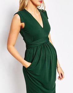 Image 3 of ASOS Maternity Crepe Dress With Obi Wrap Belt