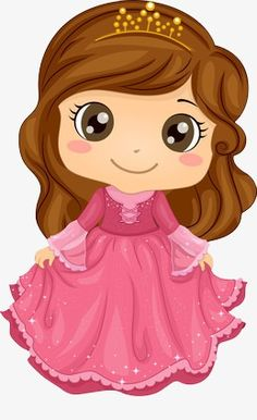 Illustration of a Cute Little Girl Wearing a Princess Costume Princess Cartoon, Cute Princess, Little Princess, Pink Princess, Princess Party, Disney Princess, Princess Theme Birthday, Birthday Crowns, Crown Drawing