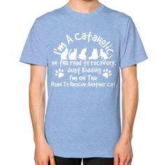 Im a cataholic Unisex T-Shirt (on man)