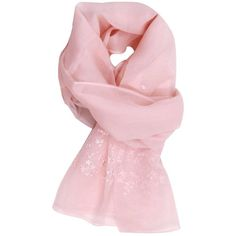 Neck Scarf Neckerchief Women (2.790 DKK) ❤ liked on Polyvore featuring accessories, scarves, pink, pure silk scarves, ermanno scervino, pink silk scarves, silk scarves and pink scarves