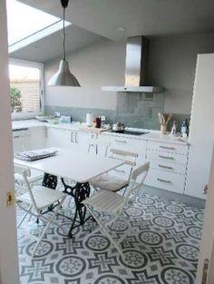 maria de la osa kitchen skylight mosaic floor.JPG