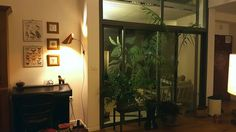 Indoor garden, house plants, entrance hall, picture wall, Parisienne style, copper lampshade, copper abajure, DIY sconce