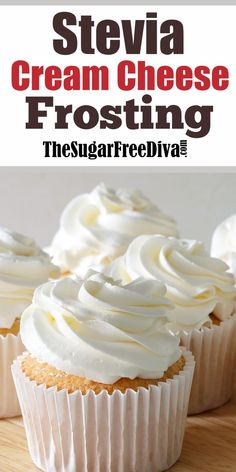 How to Make a Sugar Free Cream Cheese Frosting Using SteviaYou can find Sugar free recipes and more on our website.How to Make a Sugar Free Cream Cheese Frosting Using Stevia Brownie Desserts, Oreo Dessert, Keto Desserts, Sugar Free Desserts, Sugar Free Recipes, Mini Desserts, Low Carb Recipes, Delicious Desserts, Dessert Recipes