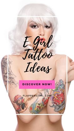 Egirl tattoos are hugely popular among young women and girls looking for a unique tattoo design that doesn't have any hidden meaning.#egirltattoos Unique Tattoos For Women, Unique Tattoo Designs, Colorful Tattoos, Minimalist Tattoos, Color Tattoo, Young Women, Girl Tattoos, Inspirational, Popular
