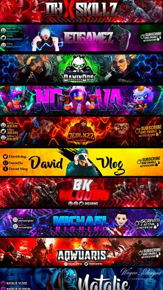 I will design an outstanding youtube banner and cover Youtube Banner Design, Youtube Banner Template, Youtube Design, Youtube Banners, Art Template, Twitter Banner, Facebook Banner, Thumbnail Youtube, Youtube Banner Backgrounds