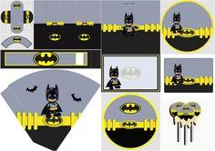 Batman Bebé: Invitaciones, Etiquetas, Imprimibles y Cajas para Imprimir Gratis.
