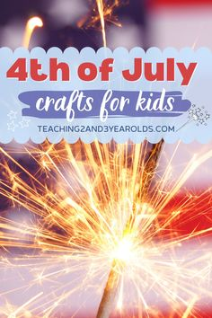 Kids will love these easy 4th of July crafts! Festive and fun and perfect to make in the classroom or at the kitchen table. #july4 #4thofjuly #crafts #preschool #kids #age3 #age4 #teaching2and3yearolds Activities For 2 Year Olds, Summer Activities For Kids, Easy Crafts For Kids, Summer Crafts, Toddler Crafts, Preschool Activities, Summer Fun, Summer School, Giraffe Crafts