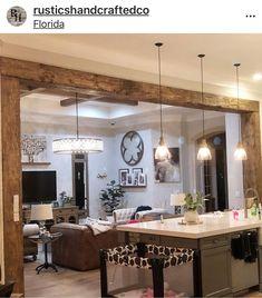 innenarchitektur holz Exposed Wood Beams Made to Order Living Room Kitchen, New Kitchen, Kitchen Decor, Kitchen Ideas, Design Kitchen, Cottage Living Rooms, Smart Kitchen, Awesome Kitchen, Cheap Kitchen