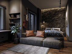 Design Loft, Home Room Design, Interior Design Living Room, House Design, Home Bedroom, Modern Bedroom, Bedroom Decor, Bedrooms, Loft Interior