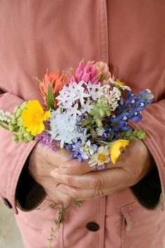 Texas Wildflowers- going out in the field behind the house and picking a flower bouquet (mostly weeds) for my momma!!
