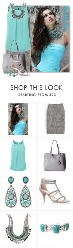 """""""Teal and Mint Green Necklace"""" by fashion-architect-style ❤ liked on Polyvore featuring Sherri Hill, J.Crew, MICHAEL Michael Kors, Siman Tu, Vince Camuto, BillyTheTree and NOVICA"""