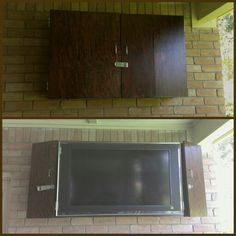 Outdoor TV Cabinet #jameswaterscreations