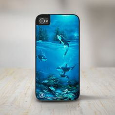 """iphone 5 case beach """"Stormy Night"""" Orcas iPhone 5 Case, iPhone 5s Case Protective Phone Cases  #David Miller #iPhone 5 Phone Case #iPhone 5s Phone Case #Phone Case beach iphone covers"""