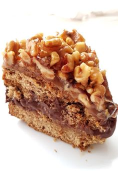 Nowa Ja - jak być FIT po 40-stce: Bezglutenowy FIT Orzechowiec Healthy Cake, Healthy Desserts, Healthy Meals, Gluten Free Bakery, Sweets Cake, My Dessert, Bakery Recipes, Food Design, No Bake Desserts