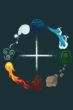 The Four Elements-Balance by UKthewhitewolf. Avatar Aang, Avatar Airbender, Team Avatar, Avatar Tattoo, Element Tattoo, Elemental Powers, The Last Avatar, Element Symbols, Magic Symbols