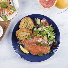 Salmon Gravlax Salad