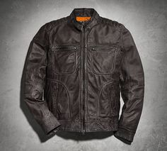 Men's Washed Lambskin Leather Jacket | Black Label | Official Harley-Davidson Online Store