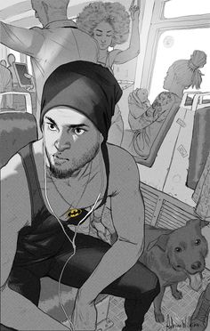 Public Transport, Adrian Wilkins on ArtStation at https://www.artstation.com/artwork/b0gEa