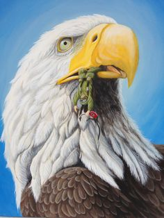 Homeland (when America devours his son) Acrylics on canvas