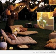 Outside movies!! LOVE this idea!!