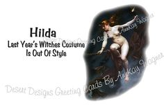 Witches Costume Is Out Of Style Adult by AnnKayGreetingCards, $5.50