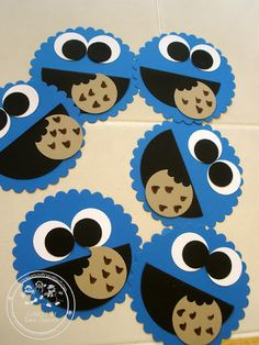 Stampin' Up! Cookie Monsters!   Made with Stampin' Up! Punches and Dies