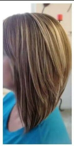 Triangular Long Layers - All For Hairstyles Medium Hair Cuts, Long Hair Cuts, Medium Hair Styles, Short Hair Styles, One Length Haircuts, Long Layered Haircuts, Above The Shoulder Haircuts, Graduated Haircut, Long Length Hair