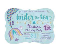 Under the sea- mermaid invitations