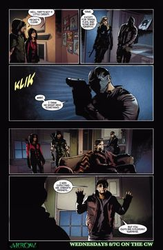 "Arrow ""Blood debts"" comic preview"