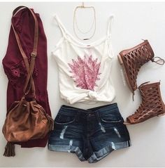 Maroon top with boots