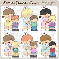 School Nurse Clip Art - *DGD Exclusive* - Only $1.00 at www.DollarGraphicsDepot.com : Great for printable crafts, web graphics, scrapbook pages, greeting cards, note pads, stickers, coffee mugs, mouse pads, iron on transfers, and much more!