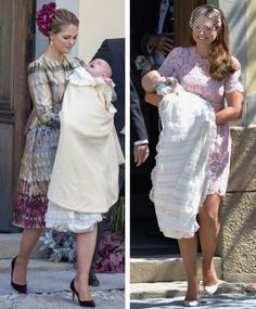 Princess Madeleine of Sweden at the Christenings of her two children