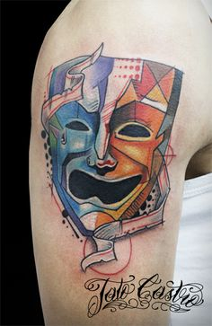 1000 images about comedy tragedy masks on pinterest for Comedy and tragedy tattoo