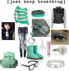 """""""[just keep breathing]"""" by izzyb296 ❤ liked on Polyvore"""