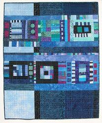 ab-strakt-ed art quilt aqua teal turquoise