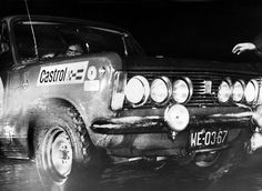 1971 Fiat 125p - 40. Rajd Monte Carlo. 6 lamp montowanych w atrapie chłodnicy robi wrażenie.