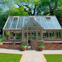 Our Design Sourcebook shortlists some of the most stylish options for greenhouses with porches. Porch Greenhouse, Porch Garden, Garden Yard Ideas, Greenhouse Gardening, Home And Garden, Greenhouse Ideas, Glass House Garden, Garden Structures, Outdoor Structures