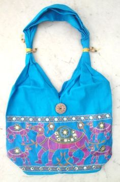 Traditional Ethnic Camel Design Embroidered Indian Rajasthan Style Tote Ladies Sling Cotton Handbag by Krishna Mart India, http://www.amazon.com/dp/B005GT7DDM/ref=cm_sw_r_pi_dp_boIVpb092NAW9