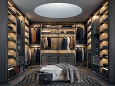 Poliform senzafine closet design
