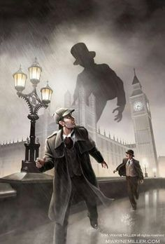 Sherlock Holmes art by M. Wayne Miller