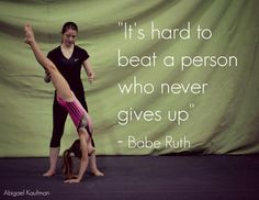 It's the perfect time of year to be reminded of this<br> Funny Gymnastics Quotes, Inspirational Gymnastics Quotes, Softball Quotes, Cheer Quotes, Gymnastics Pictures, Sport Quotes, True Quotes, Motivational Quotes, Cheerleading Quotes