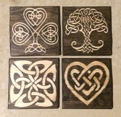 Celtic Knot Wood Plaque Your Choice Of Design