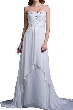 58bce41995b LovingDress Women s Wedding Dress Empire Waist Sweetheart Chiffon with  Beading Size 0 US Gold. New DressDress For YouDresses For WorkLong ...