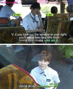 BTS V and Jimin//reppining this cuz lol Bts Bangtan Boy, Bts Boys, Bangtan Bomb, K Pop, Fanfiction, Jin Dad Jokes, Kpop Memes, Bts Memes Hilarious, Lol