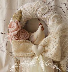 Tulle Wreath, Burlap Wreath, Lace Ribbon, Easter Ideas, Door Hangers, Shabby Chic, Zara, Felt, Wreaths