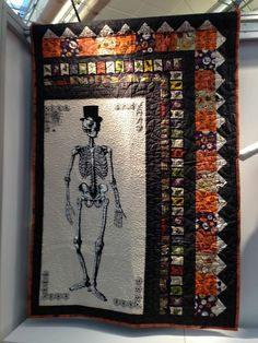 Mr. Bones quilt pattern designed by Heidi Pridemore available for purchase.