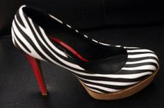 """ Jessica Simpson"" - Zebra/Red/Cork -Shoes"