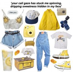 Clothes yellow summer 62 ideas for 2019 Mode Outfits, Grunge Outfits, Grunge Clothes, Aesthetic Fashion, Aesthetic Clothes, Summer Aesthetic, Aesthetic Grunge, 90s Fashion, Fashion Outfits