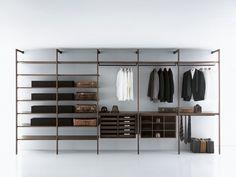 Armario vestidor composable de madera contrachapada de estilo moderno a medida STORAGE | Armario vestidor by Porro